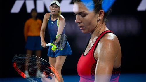 Wozniacki và Halep đã tạo nên trận chung kết hấp dẫn. Ảnh: Tennis Australia.