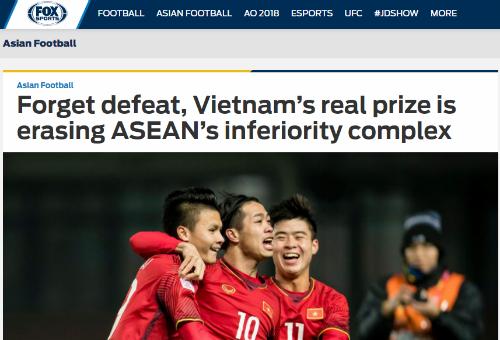 Fox Sports ca ngợi những cơn địa chấn của Việt Nam.