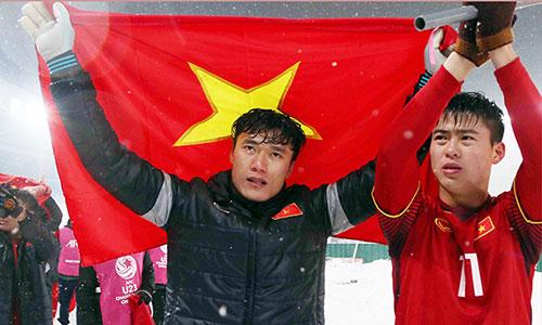 Thủ môn Bùi Tiến Dũng đã có một giải đấu xuất sắc, góp công lớn đưa U23 Việt Nam vào trận đấu cuối cùng. Ảnh: Anh Khoa.