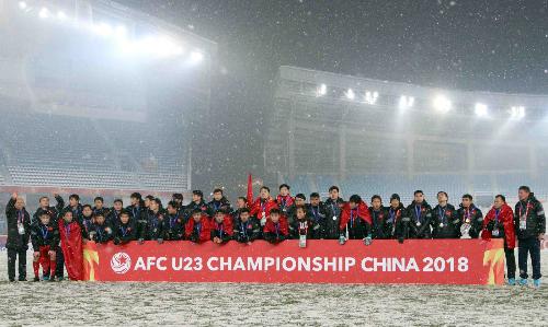 Việt Nam đã nhận được phần thưởng quý giá nhất qua giải U23 châu Á 2018. Ảnh:Anh Khoa.