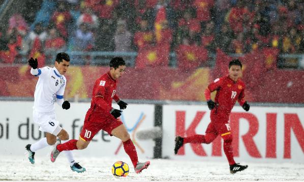 Bước qua lứa tuổi U23, Công Phượng và những đồng đội đánh dấu cột mốc tuyệt vời để tiếp bước trong chặng đường trưởng thành. Ảnh:AFC.