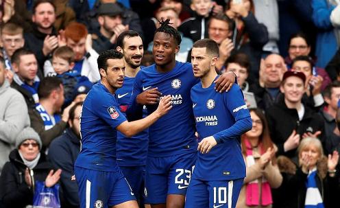 Chelsea chơi phản công sắc bén trong hiệp một. Ảnh:Reuters.
