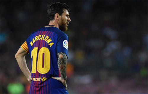 Messi từng có ba lần dứt điểm trúng khung thành trong trận Barca thắng Betis 2-0. Ảnh: Reuters
