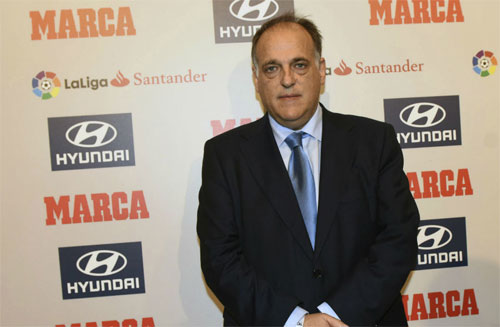 Tebas muốn Neymar trở lại La Liga. Ảnh: Marca