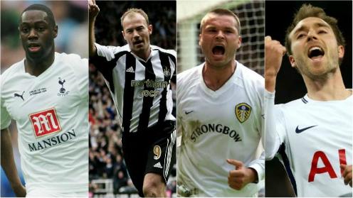 Ledley King (Tottenham) và Alan Shearer (Newcastle) chia sẻ vị trí cầu thủ ghi bàn nhanh nhất Ngoại hạng Anh với cùng 10 giây. Eriksen và Mark Viduka (Leeds) cùng đứng thứ hai với 11 giây.