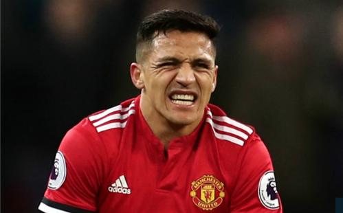 Sự bất lực của Sanchez là hình ảnh tiêu biểu cho Man Utd. Ảnh:AFP.