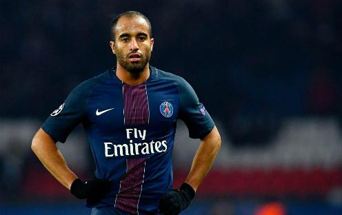 Lucas Moura trong màu áo PSG. Ảnh:Reuters.