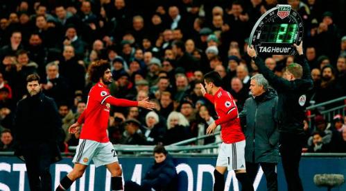 Fellaini vẫn là quân bài tẩy của Mourinho. Ảnh: AFP.