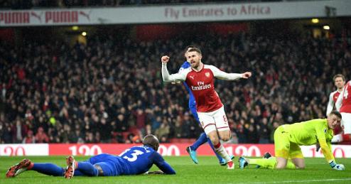 Ramsey lập hat-trick đầu tiên trong sự nghiệp. Ảnh:AFP.