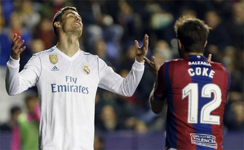 Ronaldo thiếu đi sự nhạy cảm trong các pha dứt điểm.