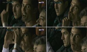 Bị thay ra, Ronaldo ra dấu im lặng trước ống kính máy quay