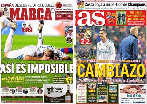 Marca và AS dùng lời phê phán tiêu cực đối với Real.