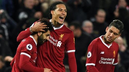 Salah đã lập siêu phẩm vào lưới Tottenham hôm 4/2. Ảnh: Reuters.