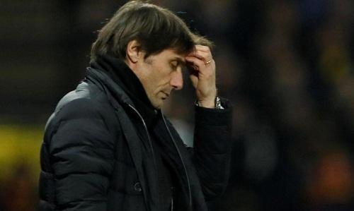 Conte có nguy cơ bị sa thải sau những kết quả tồi tệ gần đây của đội nhà. Ảnh:Reuters.