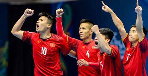 Tuyển futsal Việt Nam muốn tái lập kỳ tích lọt vào bán kết như hai năm trước. Ảnh: AFC