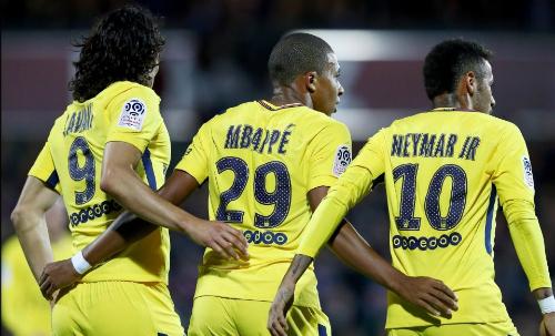 PSG thể hiện sự thống trị ở Ligue I bởitiềm lực tài chính. Ảnh: AFP.