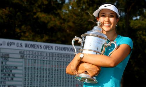 Michelle Wie đoạt danh hiệu major US Open 2014. Đó cũng là lần gần nhất cô đăng quang ở một sự kiện LPGA Tour. Ảnh: AP.