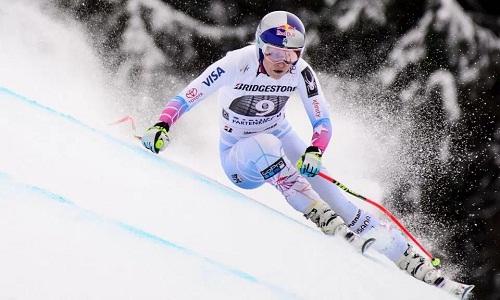 Vonn là một trong những ngôi sao được chú nhất tại Olympic mùa đông 2018. Ảnh: EPA.