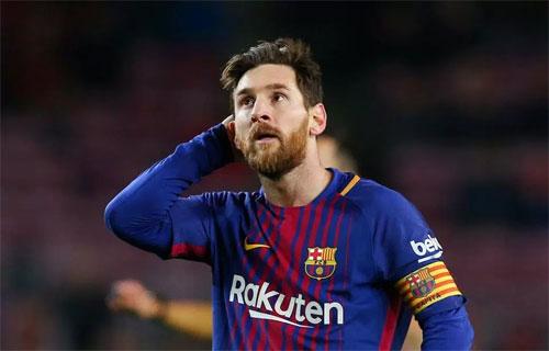 Messi có thể phá sâu kỷ lục chuyển nhượng nếu rời Barca. Ảnh: Reuters