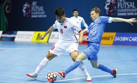 Futsal Việt Nam lần thứ hai liên tiếp để thua Uzbekistan. Ảnh: AFC