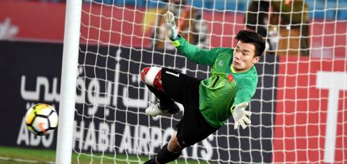 Thủ môn Tiến Dũng có cơ hội thể hiện ở AFC Cup 2018. Ảnh: AFC.
