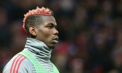 Pogba ngồi dự bị trong trận đấu gần nhất. Ảnh:Sky Sports.