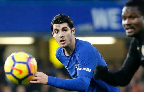 Morata đã ghi 12 bàn cho Chelsea ở mùa giải năm nay. Ảnh:AFP.
