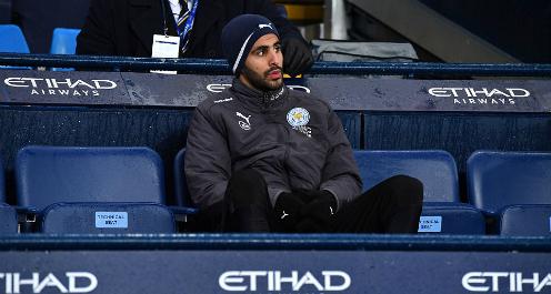 Riyad Mahrez ngồi dự bị trước Man City. Ảnh:PA.