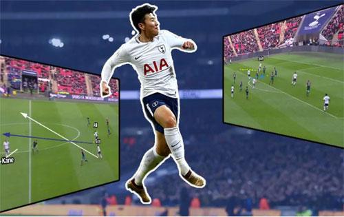 Son Heung Min là ngôi sao bóng đá lớn nhất của Hàn Quốc. Ảnh:AFP.