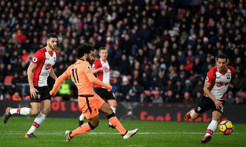 Salah tiếp tục lập công cho Liverpool. Ảnh: AFP.