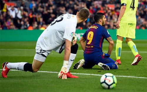 Suarez, Messi và đồng đội đều im tiếng trước hàng thủ Getafe. Ảnh: Marca