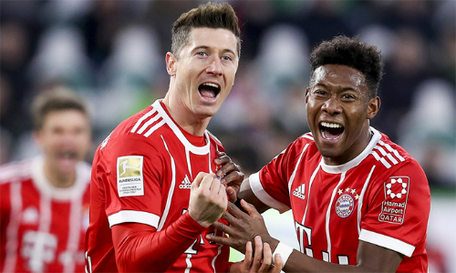 Với kết quả 2-1 này, Bayern có chiến thắng thứ 13 liên tiếp trên mọi mặt trận, đồng thời nới rộng cách biệt ở Bundesliga lên 21 điểm. Ảnh: AFP.
