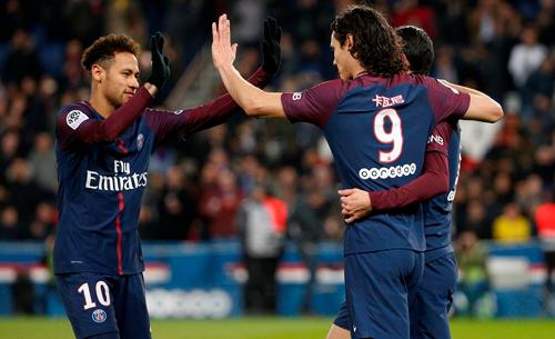 Neymar có màn thể hiện ấn tượng trước Strasbourg. Ảnh: AFP.