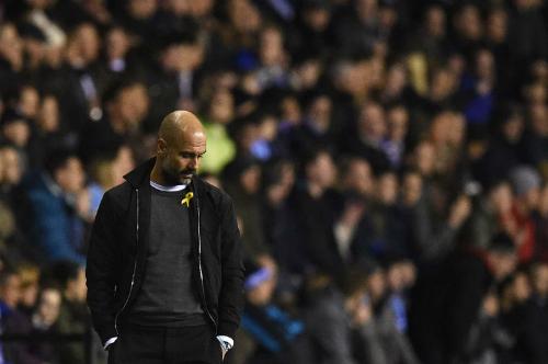HLV Pep Guardiola và Man City nhận thất bại đau đớn nhất từ đầu mùa. Ảnh:AFP.