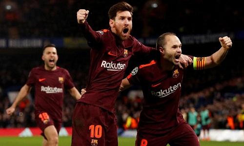 Iniesta cho rằng Barca sẽ không lép vế trước Chelsea ở lượt về. Ảnh: Reuters.