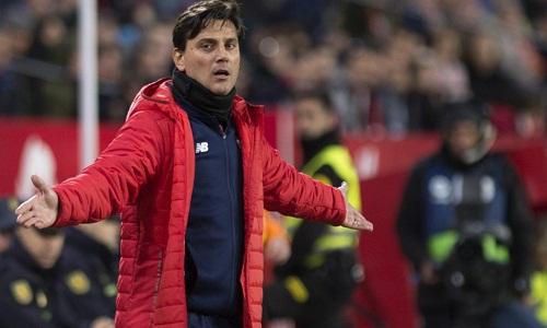 Montella vẫn tin tưởng vào cơ hội đi tiếp của Sevilla. Ảnh: Reuters.