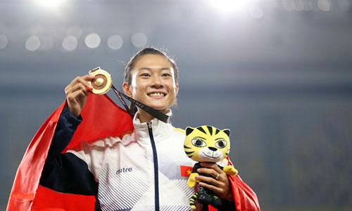 Tú Chinh dù làm mưa làm gió ở đấu trường khu vực nhưng để có HC ASIAD, cô cần cải thiện thành tích rất nhiều. Ảnh: Đức Đồng.