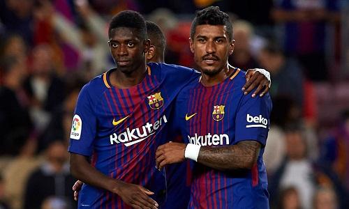 Màn trình diễn của Dembele và Paulinho chưa thể thuyết phục Xavi. Ảnh: AFP.