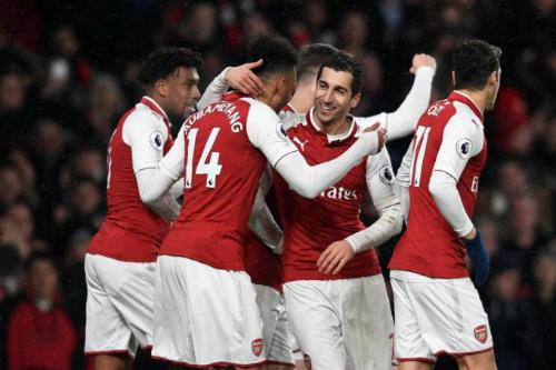 Sự xuất hiện của bộ đôi Aubameyang và Mkhitaryan có thể tạo nên bất ngờ cho Arsenal. Ảnh:Reuters.