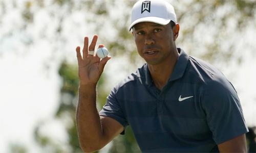 Tiger Woods có 10 cơ hội ghi birdie khi đưa bóng cách hố chỉ khoảng bảymét và tận dụng thành công ba lần. Ảnh: Golfweek.