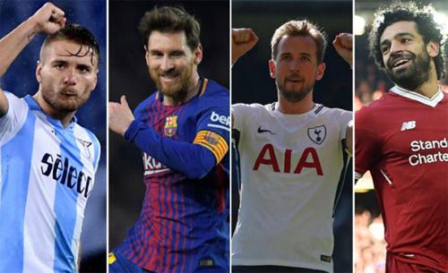 Immobile, Messi, Kane và Salah đều đang có phong độ cao.