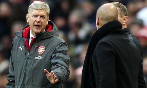 Wenger đả kích Guardiola sau thất bại. Ảnh: SkySports.