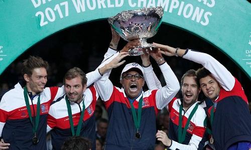 Pháp đang là ĐKVĐ Davis Cup. Ảnh: Reuters.