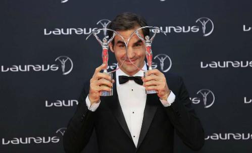 Federer năm lần đoạt Oscar Thể thao dành cho VĐV hay nhất năm. Ảnh: Reuters.