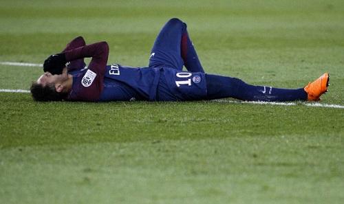 Neymar bị phạm lỗi nhiều nhất Ligue I. Ảnh: AFP.