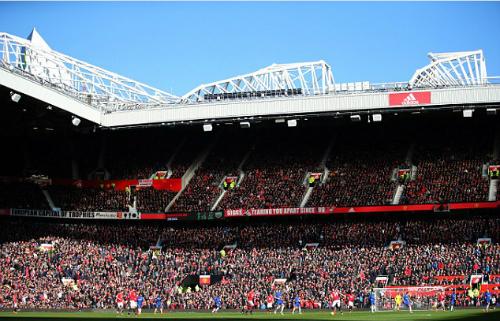Một góc sân vận động Old Trafford. Ảnh:AFP.
