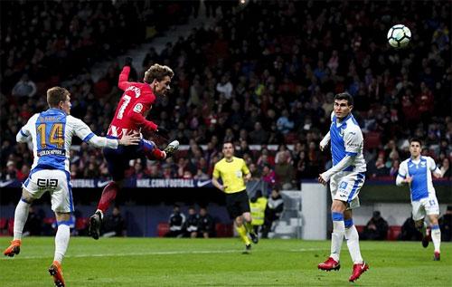 Griezmann ghi bảy bàn trong hai trận gần nhất. Ảnh: Reuters