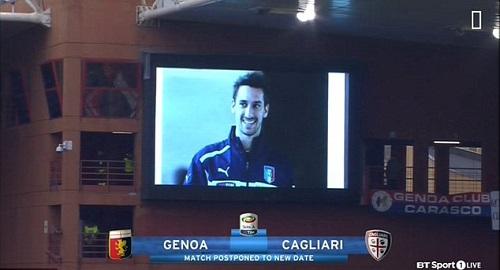 Astori đã có sáu mùa giải chơi cho Cagliari, trước khi chuyển đến AS Roma và Fiorentina. Ảnh: BT Sport.