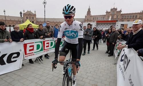 Froome tham dự Ruta del Sol, bất chấp nghi án doping. Ảnh: EPA.