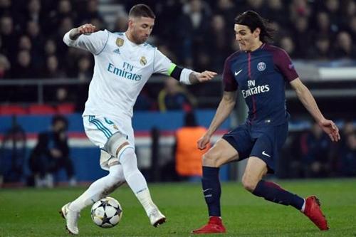 Ramos (trái) là một trong số những người chơi nổi bật nhất tối 6/3. Ảnh: AFP.